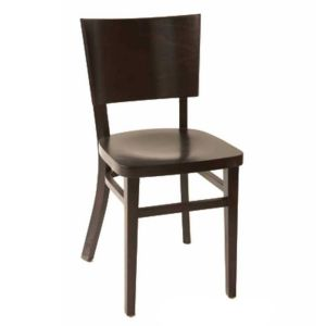 Deco Walnut Wood Commercial Chair with Wood Back and Seat
