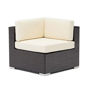 Espresso Wicker Outdoor Lounge Sectional - Corner (Front)