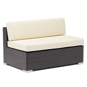 Espresso Wicker Outdoor Lounge Sectional - Double (Front)
