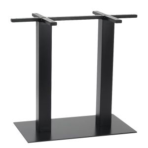 Contemporary Commercial Metal Rectangular Bar Height Table Base in Black (16