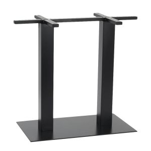 Contemporary Commercial Metal Rectangular Table Base in Black (16