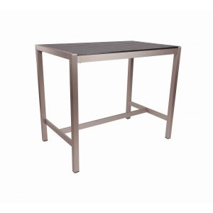 Black Synthetic Wood Aluminum Restaurant Bar Height Table (31