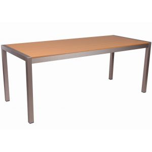 Tan Synthetic Wood Aluminum Restaurant Table (31