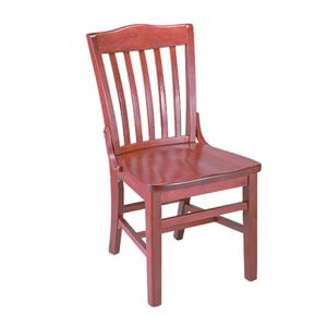Mahogany Schoolhouse Chair with Solid Wood Saddle Seat