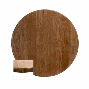"Red Oak Solid Wood Round Dining Table Top (30"")"