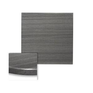 "Werzalit Onyx Grey Square Outdoor Restaurant Table Top (32""x 32"")"