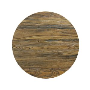 "Reclaimed Elm Wood Round Dining Table Top (30"")"