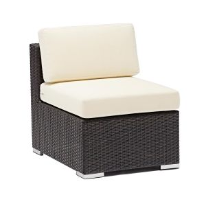 Espresso Wicker Outdoor Lounge Sectional - Single (Front)