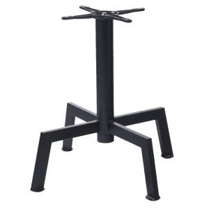 "Black Powder-Coated Steel Bar Height Table Base (22"" x 22"")"
