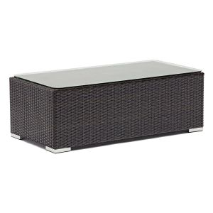 Espresso Wicker Outdoor Lounge Table