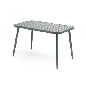 Aluminum Restaurant Table in Gunmetal Grey (30