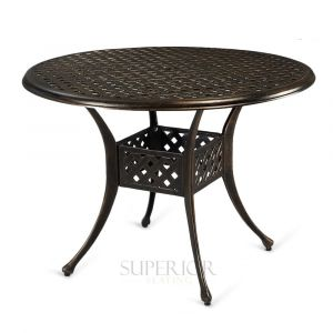 "Cast Aluminum Round Outdoor Dining Table (42"")"