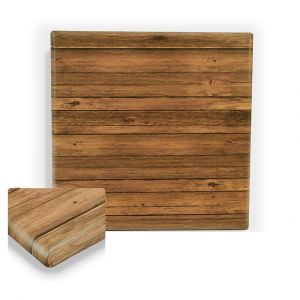 "Werzalit Distressed Walnut Square Outdoor Dining Table Top (36""x 36"")"