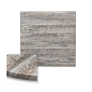 "Werzalit Reclaimed Wood Square Outdoor Dining Table Top (24""x 24"")"