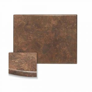 "Werzalit Copper Rectangular Outdoor Dining Table Top (24"" x 30"")"
