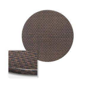 "Werzalit Basket Weave Round Outdoor Dining Table Top (48"")"