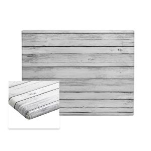 """Werzalit Distressed White Rectangular Outdoor Dining Table Top (24""""x 30"""")"""