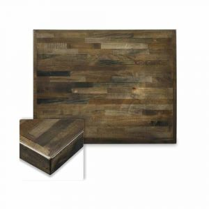 Butcher Block Mixed Wood Indoor Rectangular Dining Table Top in Urban Grey Finish (24