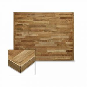 Butcher Block Mixed Wood Indoor Rectangular Dining Table Top in Urban Maple Finish (24