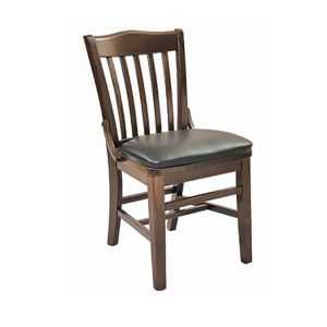 Walnut Schoolhouse Chair with Upholstered Seat